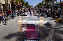 Gata Art Festival i sjövärde Florida Arkivbilder