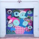 Gata Art Mural för Venedig strandgrafitti arkivbild