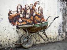 Gata Art Mural i Kuching, Sarawak, Malaysia royaltyfri bild