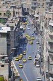 Gata av Aleppo, Syrien Arkivbild