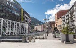 Gata av Andorra Arkivbilder