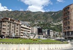 Gata av Andorra Arkivfoton