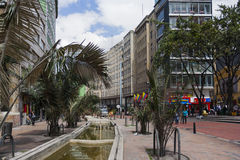 Gata av Bogota, Colombia Arkivbilder