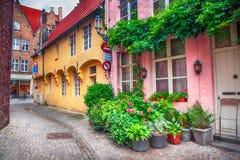 Gata av Brugge, Belgien Royaltyfri Fotografi
