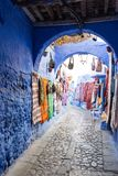 Gata av Chefchaouen, Marocko royaltyfria foton