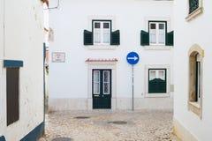 Gata av den Ericeira staden Portugal fotografering för bildbyråer