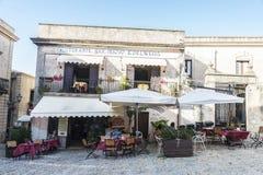 Gata av den gamla staden i Erice, Sicilien, Italien Royaltyfri Fotografi