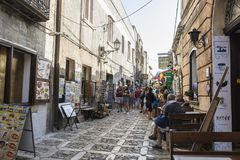 Gata av den gamla staden i Erice, Sicilien, Italien Royaltyfria Foton