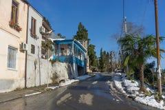 Gata av den gamla staden av Sukhumi i Abchazien Arkivbilder