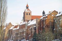 Gammal stad - Grudziadz Arkivbild