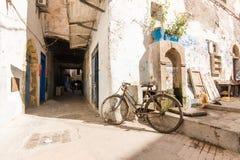 Gata av Essaouira, Marocko arkivbild