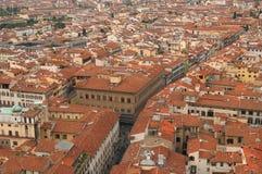 Gata av Firenze Arkivbild