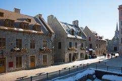 Gata av gamla Quebec City Arkivfoto