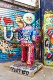 Gata av grafitti i Ghent, Belgien Royaltyfria Bilder