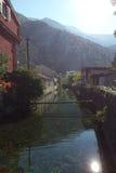 Gata av Kotor i nedgången Royaltyfri Fotografi