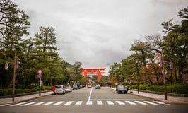 Gata av Kyoto, Japan royaltyfri bild