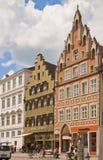 Gata av Landshut, Tyskland Arkivbilder