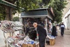 Gata av Meknes, Marocko Arkivbilder