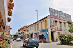 Gata av Melaka Royaltyfria Bilder
