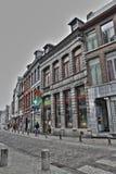 Gata av Mons i Belgien Royaltyfri Foto