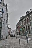 Gata av Mons i Belgien Fotografering för Bildbyråer