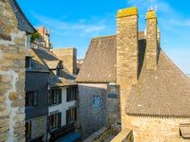 Gata av Mont Saint-Michel, Frankrike Arkivbilder