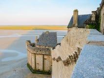 Gata av Mont Saint-Michel, Frankrike Royaltyfri Fotografi