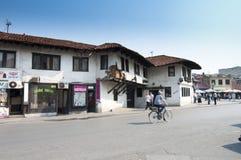 Gata av Novi Pazar royaltyfria bilder