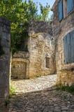 Gata av Oppede-le-Vieux Arkivbild