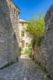 Gata av Oppede-le-Vieux Royaltyfri Fotografi
