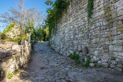 Gata av Oppede-le-Vieux Arkivfoto