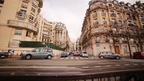 Gata av Paris Höst arkivfilmer