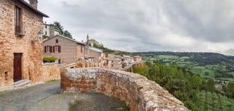 Gata av staden Orvieto, Italien, Toscana Royaltyfria Foton