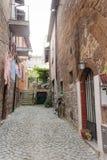 Gata av staden Orvieto, Italien, Umbria arkivbild