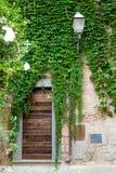 Gata av staden Orvieto, Italien, Umbria arkivbilder