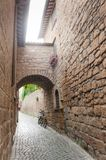 Gata av staden Orvieto, Italien, Umbria arkivfoto