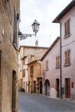Gata av staden Orvieto, Italien, Umbria fotografering för bildbyråer
