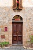 Gata av staden Orvieto, Italien, Umbria arkivfoton