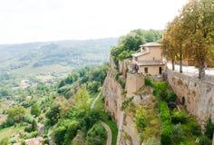 Gata av staden Orvieto, Italien, Umbria royaltyfri bild