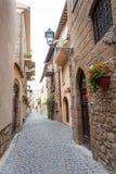 Gata av staden Orvieto, Italien, Umbria royaltyfri foto