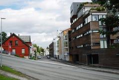 Gata av Tromso. Arkivbilder