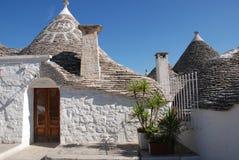 Gata av Trulli, Puglia Arkivfoton