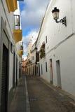 Gata av Zafra, Badajoz, Spanien Royaltyfri Foto