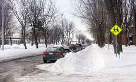 Gata efter ett snöfall Royaltyfria Bilder
