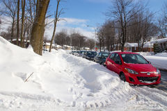 Gata efter ett snöfall Arkivbild