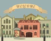 gata för bakgrundsstadsnatt vektor illustrationer