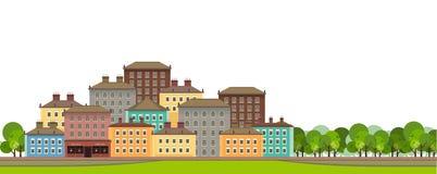 gata för bakgrundsstadsnatt royaltyfri illustrationer