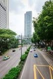 Gata för fruktträdgårdvägshopping i Singapore Royaltyfria Bilder