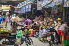 Gata för Hanoi gammal stadmarknad Royaltyfri Fotografi