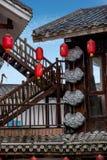 Gata för Hunan Zhangjiajie Wulingyuan flodtorkduk Arkivfoto